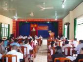 Xã Tân Thành tổ chức Hội nghị chào mừng các học viên khóa 37 lớp trung cấp lý luận chính trị - Trường chính trị tỉnh Bình Phước về tham quan nghiên cứu thực tế tại địa phương.