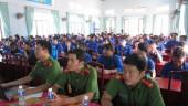 Chi đoàn PC47 Công an tỉnh tổ chức tuyên truyền phòng chống ma túy tại xã Tiến Thành.