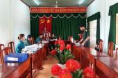 Đoàn kiểm tra Ban chỉ huy quân sự thị xã kiểm tra công tác động viên, tuyển quân tại xã Tân Thành.