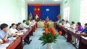 Chủ tịch UBND thị xã Lê Trường Sơn làm việc với  Đảng ủy và UBND phường Tân Bình.